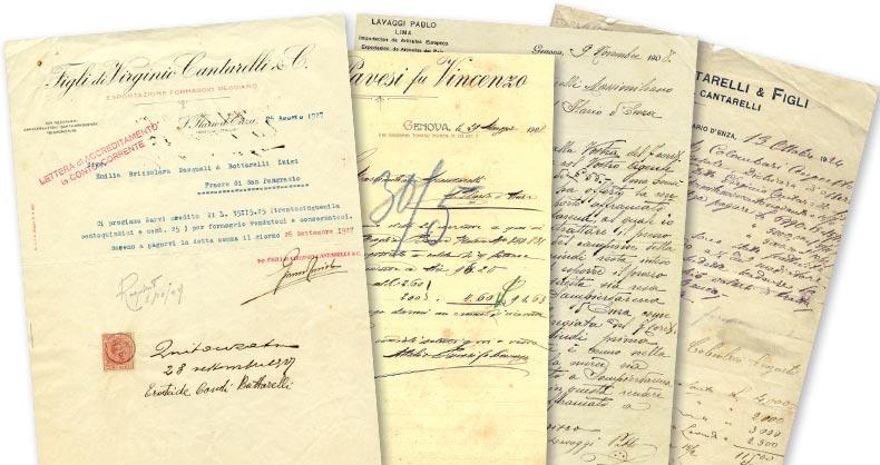 documenti antichi_famiglia cantarelli_ 1876