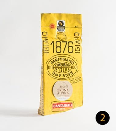 parmigiano reggiano cantarelli bruna alpina 750 gr