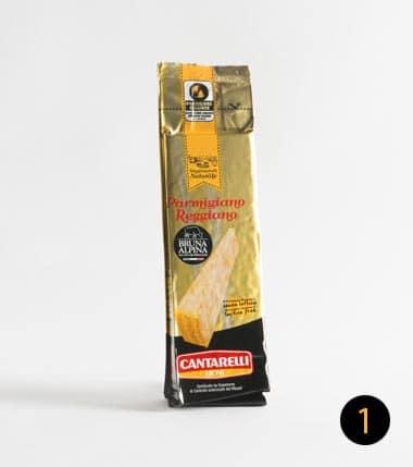 parmigiano reggiano cantarelli bruna alpina 250 gr