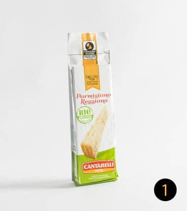 parmigiano reggiano cantarelli bio 250 gr